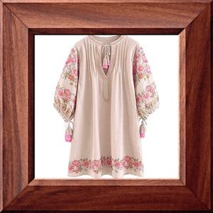 FREE SHIPPING New Boho Dress With Tassels